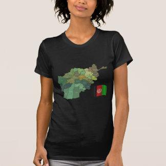 Karta och flagga av Afghanistan T Shirt