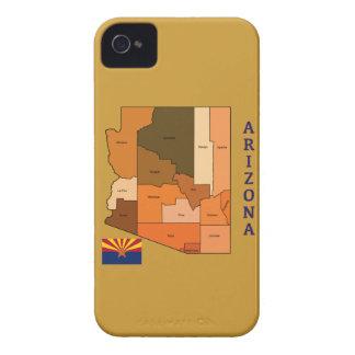 Karta och flagga av Arizona iPhone 4 Skydd
