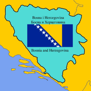 Karta Bosnien Och Hercegovina.Karta Av Bosnien Presenter Zazzle Se