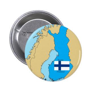 Karta och flagga av Finland Knappar
