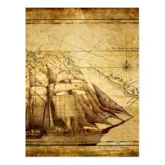 Kartafrakten för äldst värld vykort