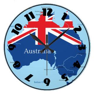 Kartan av Australien tar tid på Stor Klocka