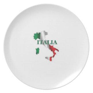 Kartan av den italienItalia melaminen pläterar Tallrik