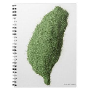 Kartan av Taiwan gjorde av gräs Anteckningsbok
