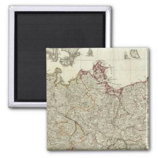 Kartan av väldet av tysklant nordligt delar upp magnet