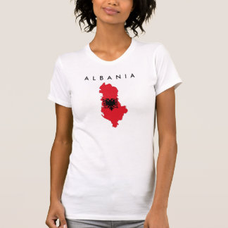 kartan för den albania landflagga formar t shirts