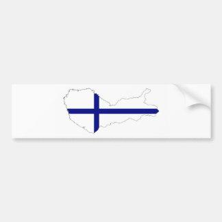 kartan för den finland landflagga formar bildekal