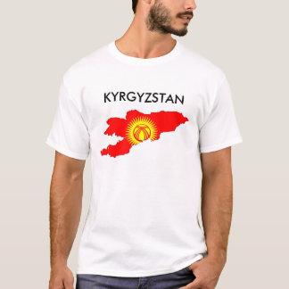 kartan för den kyrgyzstan landflagga formar tshirts