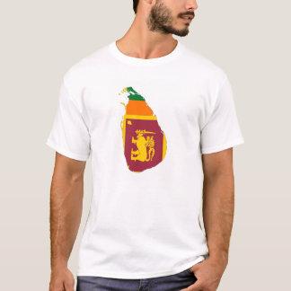 kartan för den Sri Lanka landflagga formar Tröjor