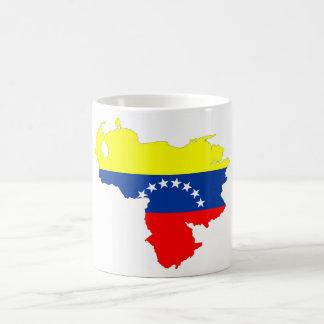 kartan för den venezuela landflagga formar symbol kaffemugg
