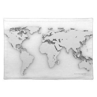 kartan för världen 3D, den frambragda datoren avbi Bordstablett