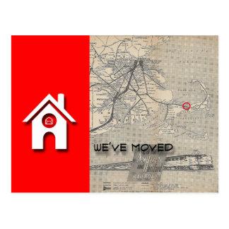 Kartan för vi har flyttatW-huset byter ut med din Vykort