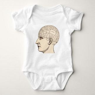 Kartan för vintageanatomihjärnan avbildar t-shirt