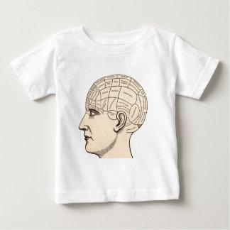 Kartan för vintageanatomihjärnan avbildar tee shirt