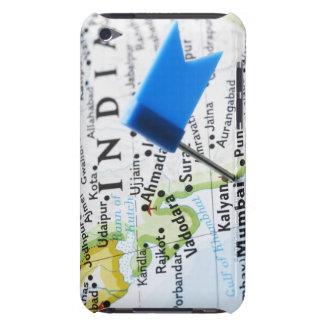 Kartan klämmer fast förlagt i Mumbai, Indien på ka iPod Touch Skydd