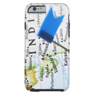 Kartan klämmer fast förlagt i Mumbai, Indien på Tough iPhone 6 Skal