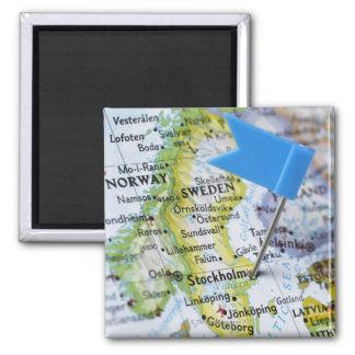 Kartan klämmer fast förlagt på Stockholm, sverige