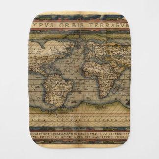 Kartbok för antikvitet för vintagevärldskarta bebistrasa