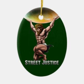 Kartboken erövrar alla vid gatarättvisa julgransprydnad keramik