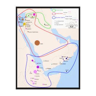 Kartlägga av fördelningen av judiska språk canvastryck