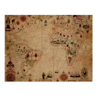 Kartlägger det Atantic hav 1633 Portolan - Pascoal Vykort