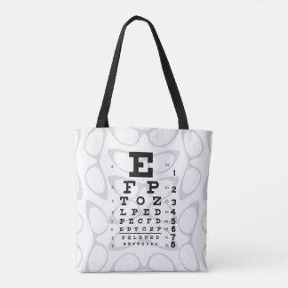 Kartlägger det Retro ögat för oftalmologipopkonst Tygkasse