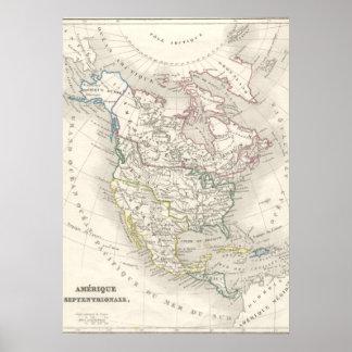 Kartlägger kartan för den gammala världen för vint posters