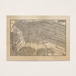 Kartor för vintage1800sNew York City Brooklyn Visitkort