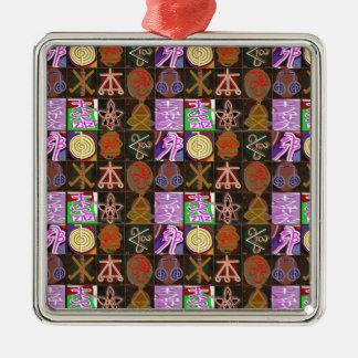 KARUNA Reiki = gåvor av kosmiskt läka för Julgransprydnad Metall