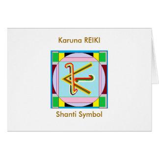 KARUNA Reiki: Shanti fred är med alla Hälsningskort