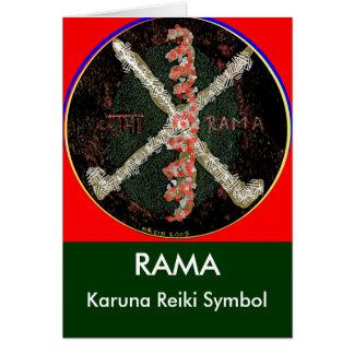 Karuna Reiki symbol - RAMA Hälsningskort