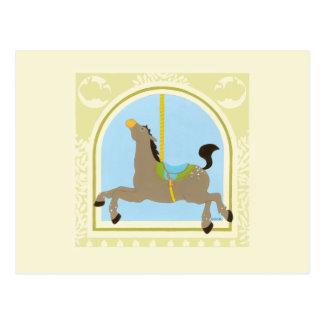 Karusellhäst vid Juni Erica Vess Vykort