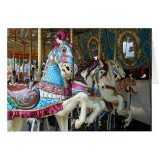 Karusellhästar Hälsningskort