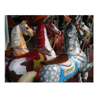 Karusellhästvykort Vykort