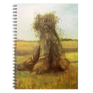 Kärvar av vete av Vincent Van Gogh Anteckningsbok