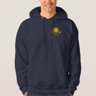 Kasachstan stil sweatshirt med luva