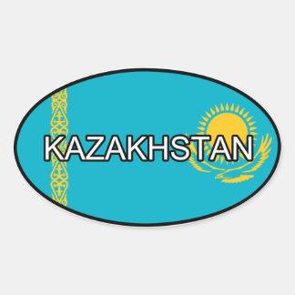 Kasakhstan Euroklistermärke Ovalt Klistermärke