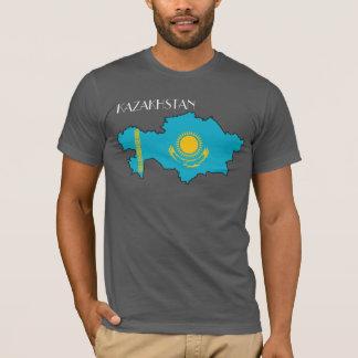 Kasakhstan Flagga-Karta skjorta Tee Shirt
