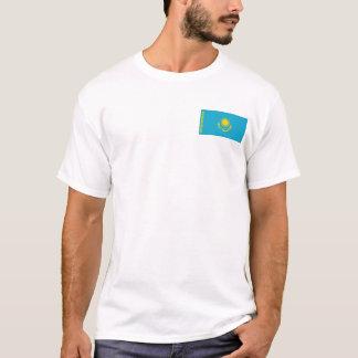 Kasakhstan flagga och kartaT-tröja T Shirts