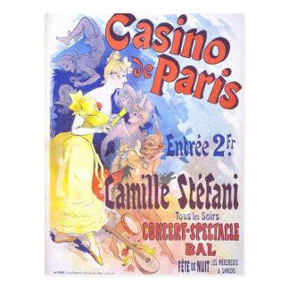 Kasino de Paris Vintage vykort
