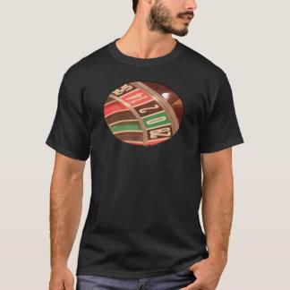 Kasinodobblerirouletten rullar Retro stil för T-shirt