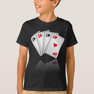 Kasinoillustration med pokerkortess t shirt