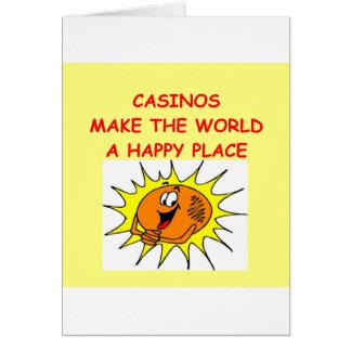 kasinon hälsningskort