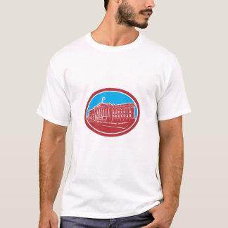 Kassan som bygger den Retro Washington Tshirts