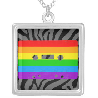 Kassetten för den Corey tiger80-tal tejpar Halsband Med Fyrkantigt Hängsmycke