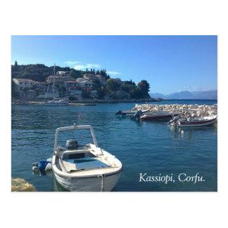 Kassiopi Corfu. Vykort