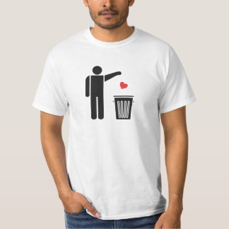 Kast bort din valentin daghjärta tee shirts