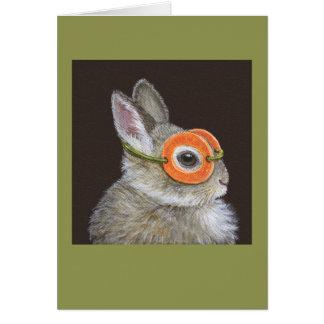 Kasta kaninkortet hälsningskort