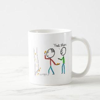Kasta någon skit mot en vägg kaffemugg