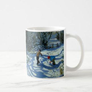 Kasta snöboll slagsmål Derbyshire Kaffemugg